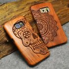 Natural Wooden Wood Phone Case Cover For Apple iPhone 6 6s 7 Plus Samsung Phones
