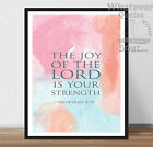 THE JOY OF.. Jesus Christ - Quote Bible Print Poster Christianity Life + Frame