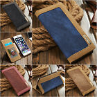 Jean+pu Flip Leather Wallet Case Card Slot Cover Skin For Apple iPhone 6 6S Plus