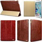 Retro 100% First Class Genuine Leather Stand Ultrathin Case Smart Cover For iPad