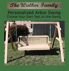 NEW PERSONALIZED SHORT A-FRAME, 4 FOOT SWING W CUSTOM NAME/PHRASE, HANGING ROPE