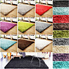 SOFT THICK PLAIN ANTI SKID SHAGGY RUG NON SHED PILE CARPET BEDROOM FLOOR MAT NEW