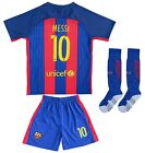 Barcelona #10 LIONEL MESSI Home Kids Soccer Jersey and Shorts Youth Sizes