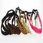 Women Girls Braided Faux Wig Elastic Rope Pretty Plaited Hair Band Headband