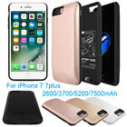 2600-7500 External Power bank Pack back battery Charger Case For iPhone 7 7Plus