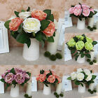 Bouquet Wedding Gift Single Rose Silk Flowers Decoration Home Craft New Party
