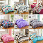 Pillowcases Quilt Duvet Cover Set Fitted Sheet Queen King Super Size Bed