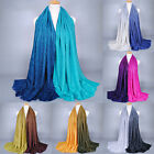 Women Ladies Contrast Color Tassel Long Shawl Scarf Wrap Stole Neck Warm Scarves
