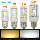 2x E27 base LED Corn Light Bulb 110V 220V bright corn lamp 5W/8W/10W/12W cover