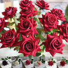 Rose Silk Flowers Artificial Craft Wedding Party Decoration Arrangements Single