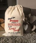 PERSONALISED WEDDING BRIDESMAID FLOWER GIRL Gift Bag 5 Sizes Available (PENNY)