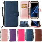 Flip Leather Case Cover Wallet Card Holder Stand Wrist strap For Samsung Galaxy