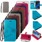 Butterfly Leather Wallet Card Stand Case Flip Cover W/ Strap For Samsung Galaxy