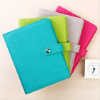 A5 Business Loose Leaf Planner Schedule Notebook Ruled Diary Snap PU Leather Pad