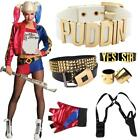 Womens Girls Suicide Squad Harley Quinn Cosplay Costume Fancy Dress Halloween