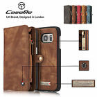 Genuine Leather Detachable Magnetic Zipper Wallet Case Cover For iPhone 7 7Plus