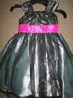 JONA MICHELLE BLACK PINK WITCH HALLOWEEN PARTY DRESS SILVER LINING TUTU AGE 4 5