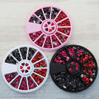 1 Box Mixed Color 3D Nail Art Decoration in Wheel  DIY Heart Pattern