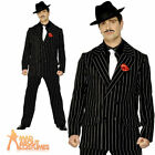 Adult Gangster Zoot Suit Costume Mens 1920s Mafia Fancy Dress Outfit New