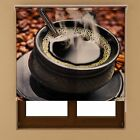 Coffee Window Blackout Transparent Fabric Roller Up Blind Shades Various Sizes