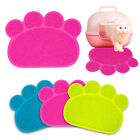 Paw Print Small Dog Cat Litter Mat Puppy Feeding Bowl Tray Kitty Claw Cleaning