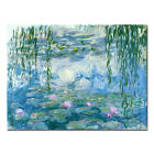 Art - Monet Painting Reproduction Picture Home Decor Wall Art Water Lilies Blue Framed