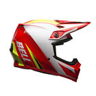 2017 Bell MX-9 ECE Helmet with MIPS - Mesh Red / White Motocross Offroad Trail E