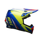 2017 Bell MX-9 ECE Helmet with MIPS - Mesh Blue / Yellow Motocross Offroad Trail