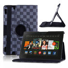 "360 Rotating PU Leather Smart Case Cover For Amazon Kindle Fire HD 7"" / HDX 8.9"""
