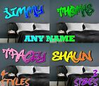 Personalised Graffiti Name Wall Art Decal Sticker Boys Girls Bedroom Transfer 2
