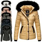 Marikoo Unique Damen Herbst Winter Stepp Jacke Kurz Parka Mantel warm Kapuze