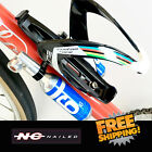 Nc nailed Bottle cage Co2 mount +Unich Co2 inflator Silver - without Cartridges