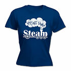 Let Off Some Steam WOMENS T-SHIRT Trains Rail Toy Set Geek Funny Gift birthday