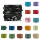 Round Leather Cord Thong Jewellery Making String 1/1.5/2/3mm 10 Meters