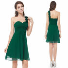 One Shoulder Bridesmaid Dresses Short Flowers Cocktail Party Gowns Empire WD0009