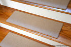 Dean Custom Pet Friendly Non-Slip DIY Carpet Stair Treads - Color: Cream