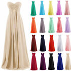 Strapless Ruffles Long Bridesmaid Evening Formal Dress Party A Line Gowns WD0045