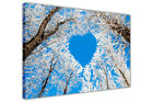 Blue Heart Forest on Framed Canvas Pictures Landscape Wall Art Prints Home Deco