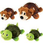 KONG SHELLS MULTI TEXTURE DOG PUPPY TOY HELPS CLEAN TEETH + SQUEAK BEAR TURTLE