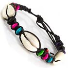2 x Shell Bead Friendship Bracelet Beach beady braclet surfer hippy