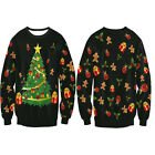 Women Fashion Sweater Chritmas Tree Printed Jumper Pullover Top Outwear