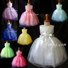 #SP8 Baby Girls Graduation Cocktail Pageant Birthday Party Prom Summer Sun Dress