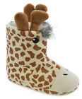 Girl's Giraffe Bootie Slippers