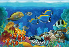 CHOIS Custom Films CF3009 Tropical Fishes Ocean Glass Window Privacy Frosted Art