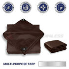 Kyпить Brown Heavy Duty 16 mil Tarp Reinforced Resistant Cover Tent Shelter Canopy на еВаy.соm