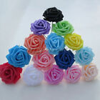 50 Colourfast Foam Rose Artificial Flower Wedding Bride Bouquet Party Decor DIY