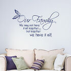 Our Family We May Not Have It All Together Quote Words Vinyl Wall Sticker Decal