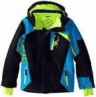 Spyder Challenger Ski Jacket Boys White, Green, Orange NEW!