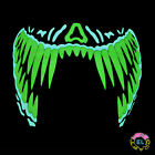 Glowing Teeth Mask - Carnival festival - Sound Activated - With Driver