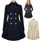 Winter Women Warm Wool Parka Overcoat Trench Coat Ladies Long Jacket Outwear
